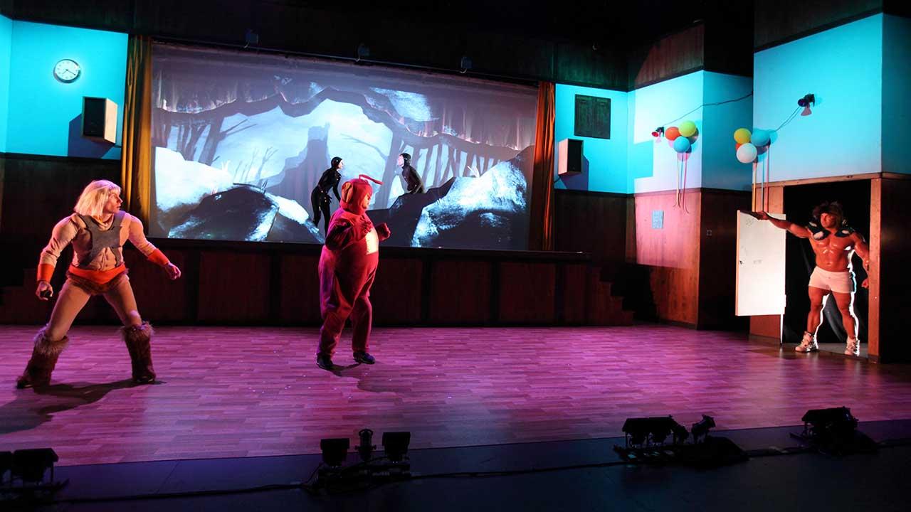 10. Windmill Theatre's School Dance, L-R Luke Smiles,Amber McMahon, Jonaton Oxlade, Matthew Whittet, Jim Rose. Photo Tony Lewis