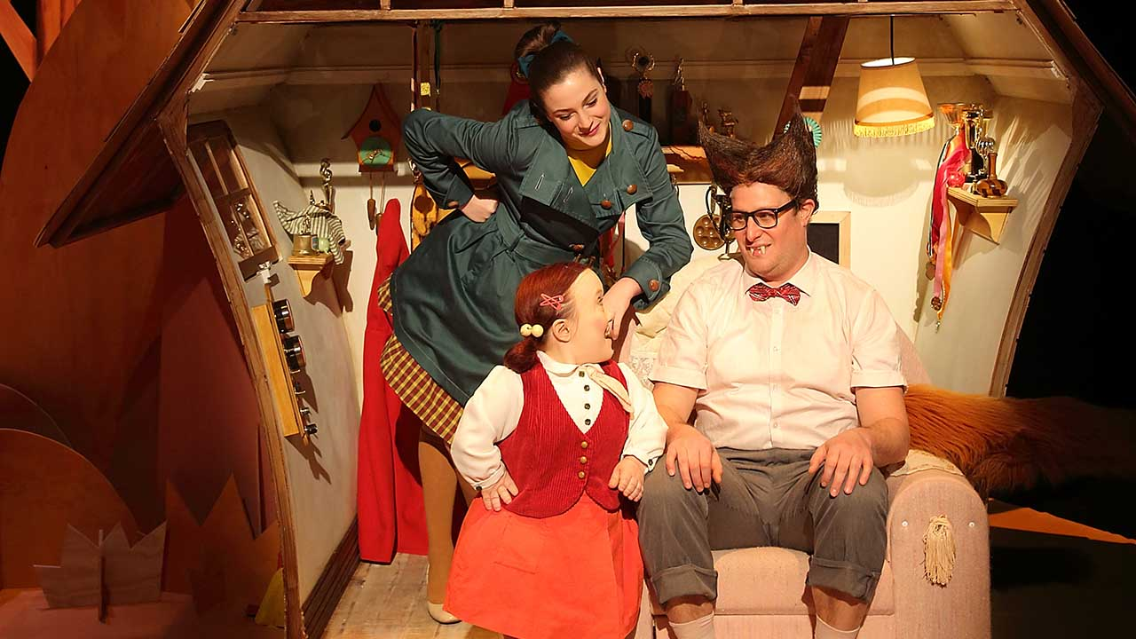 12. Big Bad Wolf. L-R Kate Cheel, Emma J Hawkins, Patrick Graham. Photo by Tony Lewis