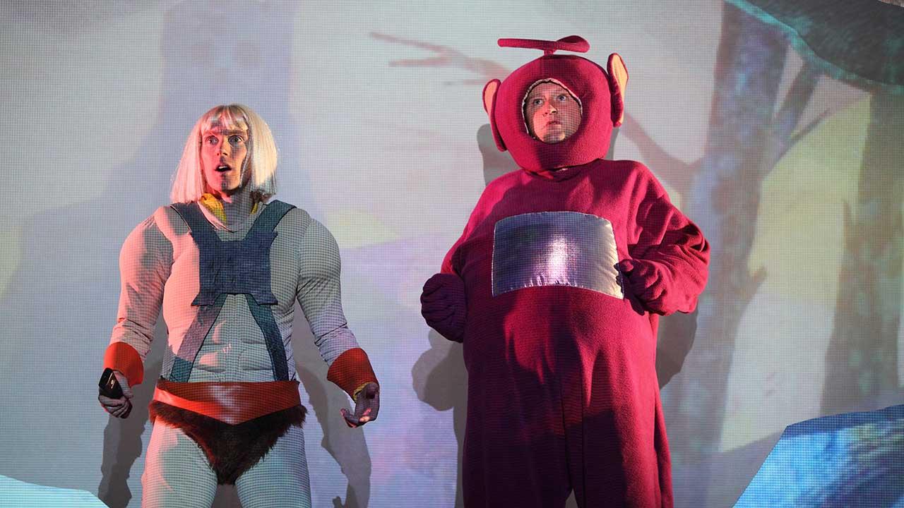 13. Windmill Theatre's School Dance, L-R Luke Smiles, Jonathon Oxlade. Photo Tony Lewis