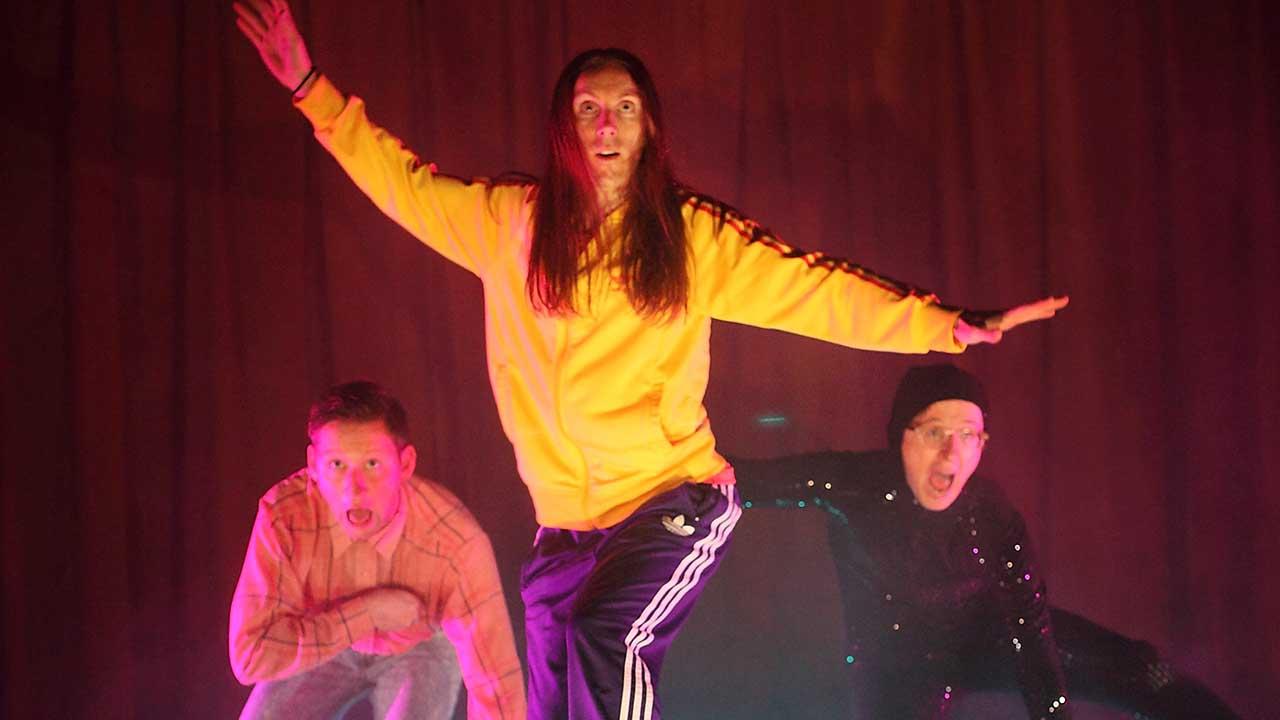 16. Windmill Theatre's School Dance, L-R Jonathon Oxlade, Luke Smiles, Matthew Whittet. Photo Tony Lewis