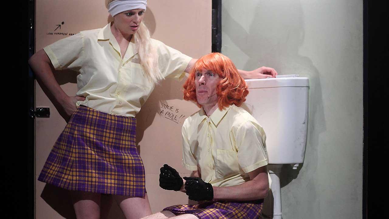 2. Windmill Theatre's School Dance, L-R Amber McMahon & Luke Smiles. Photo Tony Lewis