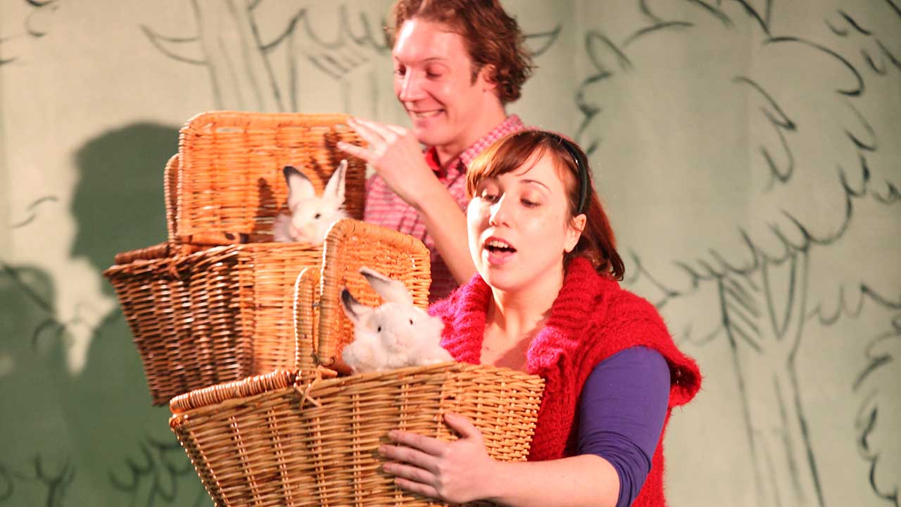 3. L-R Nathan O'Keefe and Nadia Rossi in Windmill Theatre's Plop! Photo by Tony Lewis