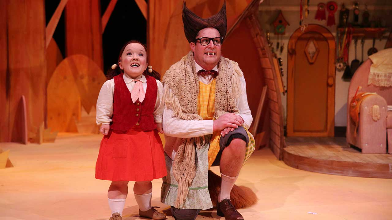 4. Big Bad Wolf. L-R Emma J Hawkins, Patrick Graham. Photo by Tony Lewis