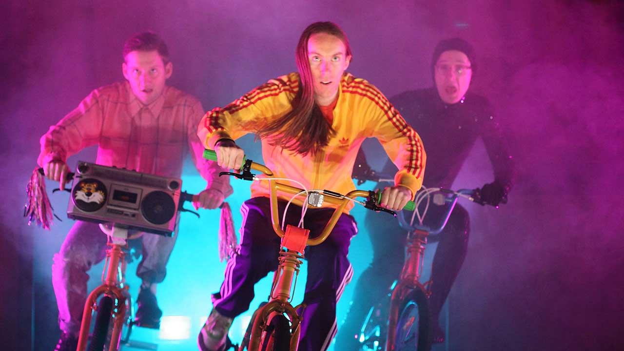 9. Windmill Theatre's School Dance, L-R Jonathon Oxlade, Luke Smiles, Matthew Whittet. Photo Tony Lewis